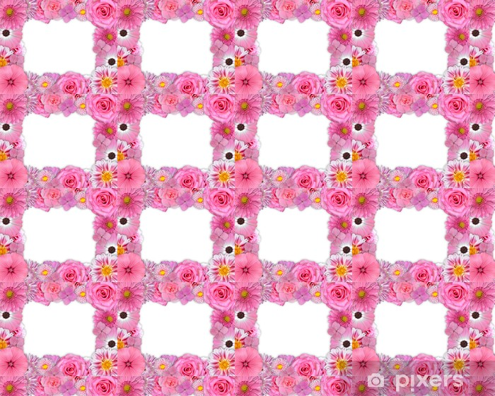 Flower Frame Pink Purple Flowers On White Wallpaper Pixers We