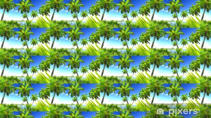 Papier peint vinyle sur mesure Tropical Beach Paradise - Îles