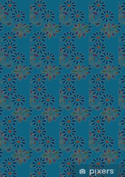 グラフィックパターン Vinyl custom-made wallpaper - Flowers