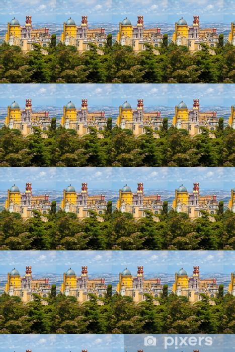 Tapeta na wymiar winylowa Panorama of Pena National Palace Above Sintra miasta, w Portugalii - Wakacje