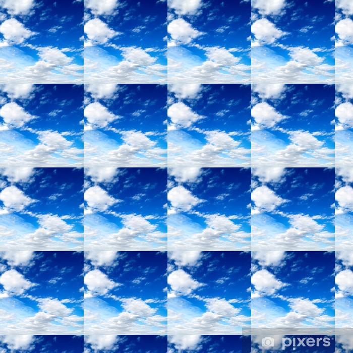 Papier peint vinyle sur mesure Nuages blancs dans le ciel bleu - Ciel