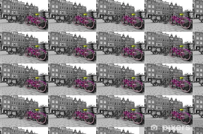 Tapeta na wymiar winylowa Różowy Rower - Rowery
