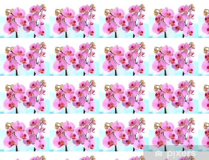 Vinylová tapeta na míru Jemná krásná orchidej na přírodním pozadí - Květiny