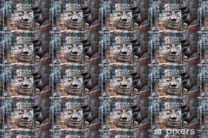Papier peint vinyle sur mesure Peintures murales et des sculptures en pierre à Angkor Wat, au Cambodge - Asie