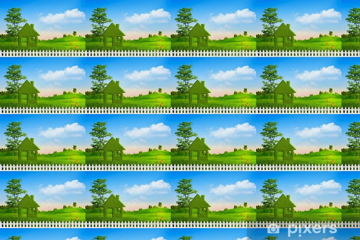 Vinyltapete nach Maß Green House, abstrakte ökologischen Hintergründe für Ihr Design - Bäume