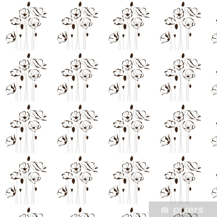 Tapeta na wymiar winylowa Projektu Poppy, kwiatów w tle - Kwiaty