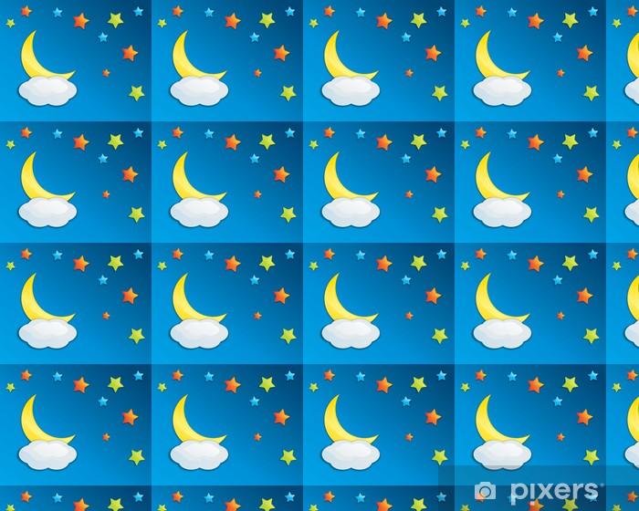 Papier peint vinyle sur mesure Nuit ciel coloré Eps10 - Ciel