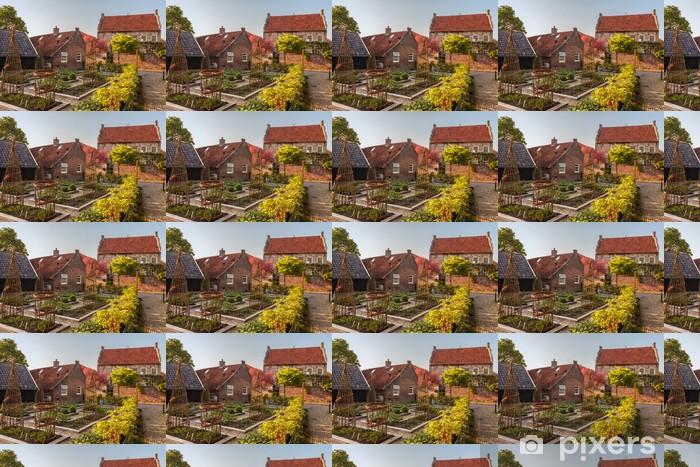 Papier peint vinyle sur mesure Vue sur la ville médiévale néerlandais Bronkhorst dans Gelderland - Maisons et jardins