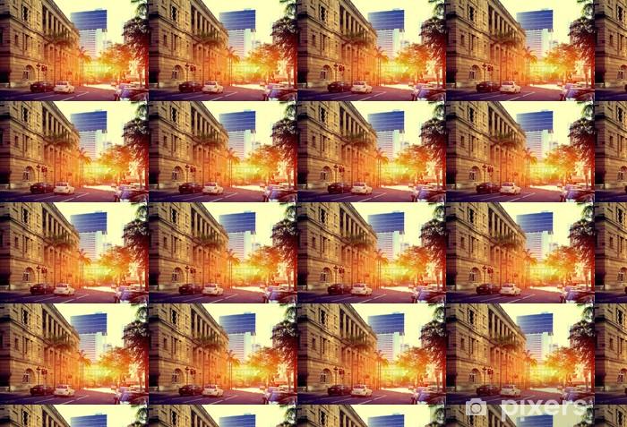Måttanpassad vinyltapet Brisbane City - Oceanien