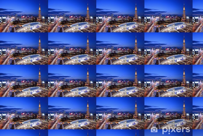 Vinyltapete nach Maß Downtown Skyline Nagoya - Asien