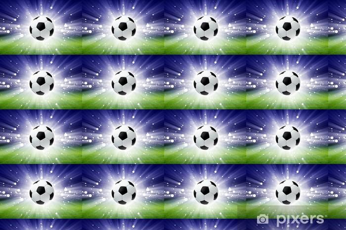Papier peint vinyle sur mesure Ballon de football, le stade, la lumière -
