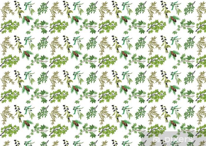 Papier peint vinyle sur mesure Ensemble des branches d'arbres isolés sur fond blanc - Arbres