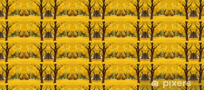Tapeta na wymiar winylowa Żółte liście klonu krajobrazy - Pory roku