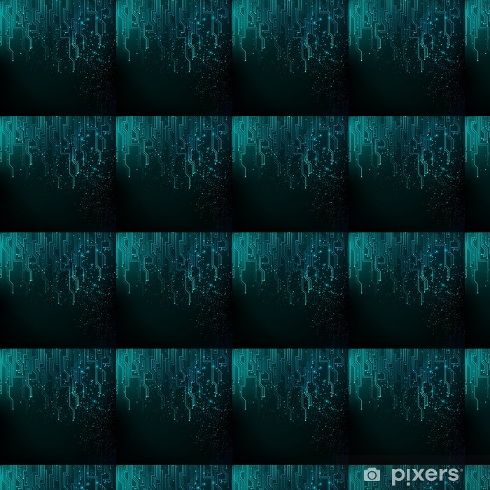 Abstract blue lights background Vinyl Custom-made Wallpaper - Business Concepts