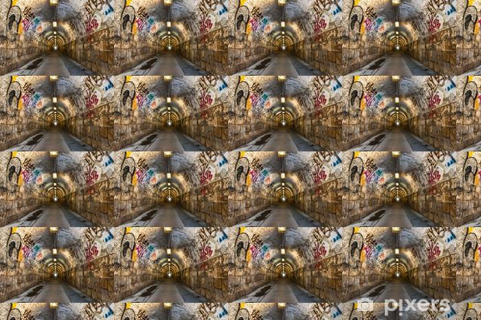 Vinyl behang, op maat gemaakt Stedelijke ondergrondse tunnel - Thema's