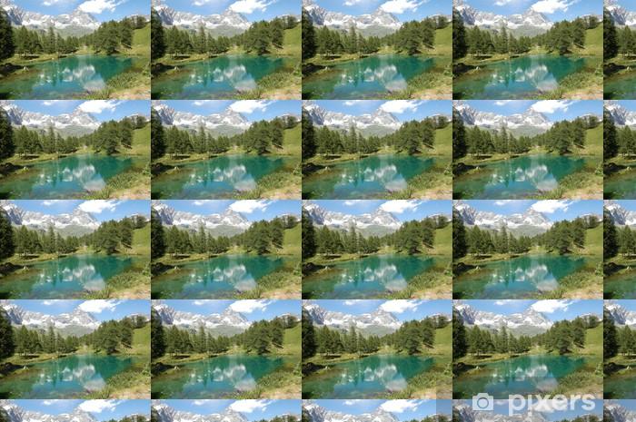 Tapeta na wymiar winylowa Matterhorn odzwierciedlenie w niebieskim jeziorem - Europa