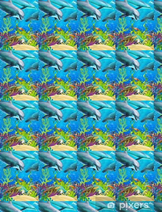 Vinylová tapeta na míru Korálový útes - ilustrace pro děti - Korálové útesy