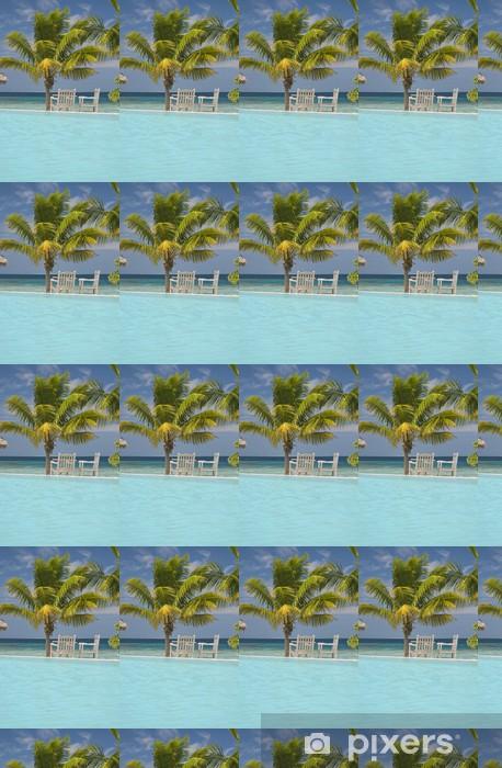 Vinyltapete nach Maß Pool auf den Malediven - Urlaub