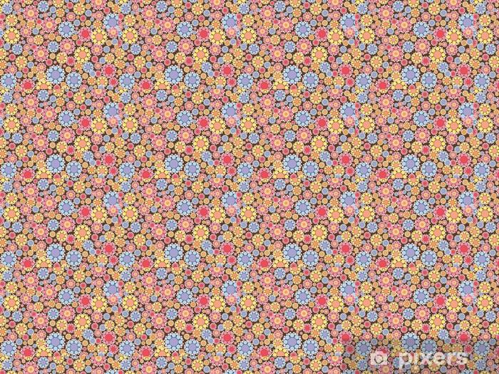 Tapeta na wymiar winylowa Pastelowo różowe i niebieskie kwiaty, śnieg, wzór -