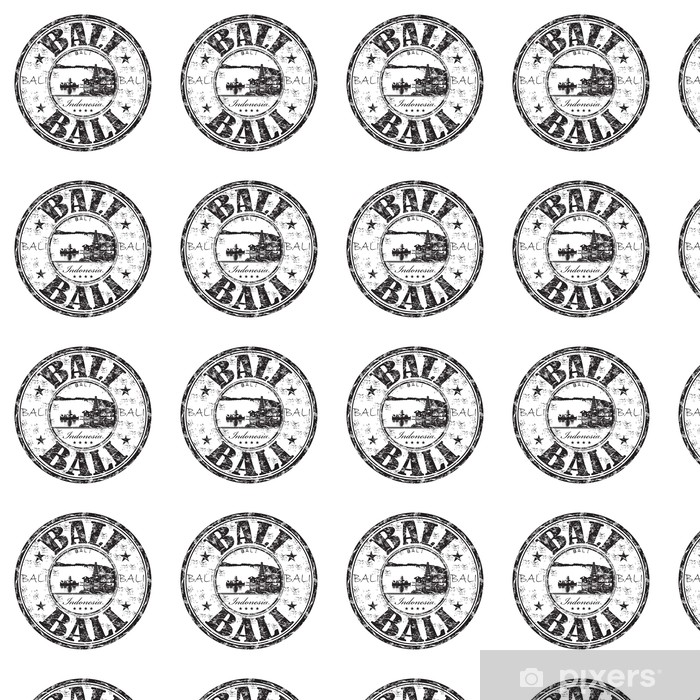 Bali grunge rubber stamp Vinyl Wallpaper - Asia