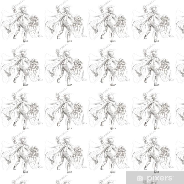 Vinylová tapeta na míru Řecké mýty (Full velké ruční kresba) - Perseus, Medusa - Ezoterika