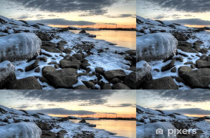 Baltic sea coast in March Vinyl Wallpaper - Seasons
