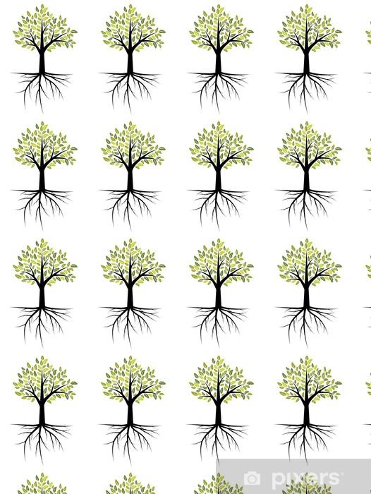Vinylová tapeta na míru Strom s kořeny - Roční období