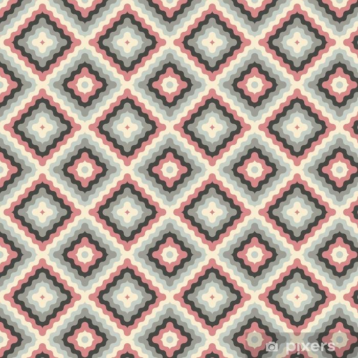 Vinyl behang, op maat gemaakt Abstract retro geometrisch patroon - Thema's