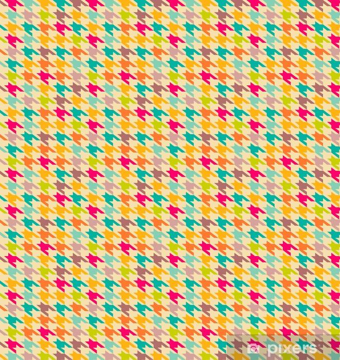 Houndstooth Pattern Wallpaper Vinyl Custom Made