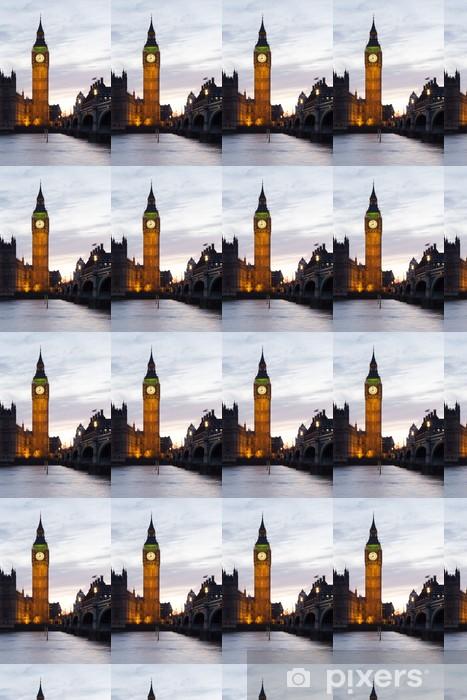 Papier peint vinyle sur mesure Big Ben et Westminster Bridge - Thèmes