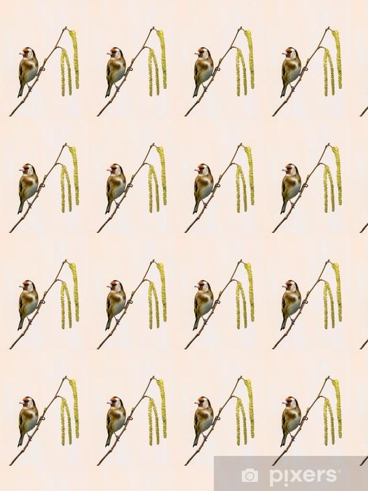 Tapeta na wymiar winylowa Szczygieł na Catkins - Ptaki