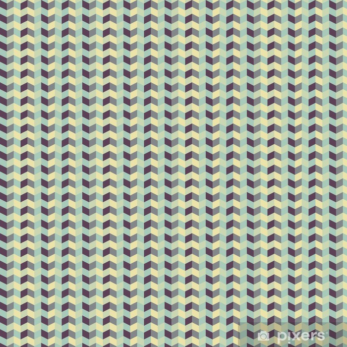 Papel de Parede em Vinil abstract retro geometric pattern - Temas
