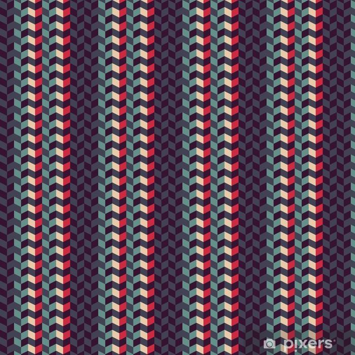 Carta da parati in vinile su misura Astratta retrò pattern geometrico - Sfondi