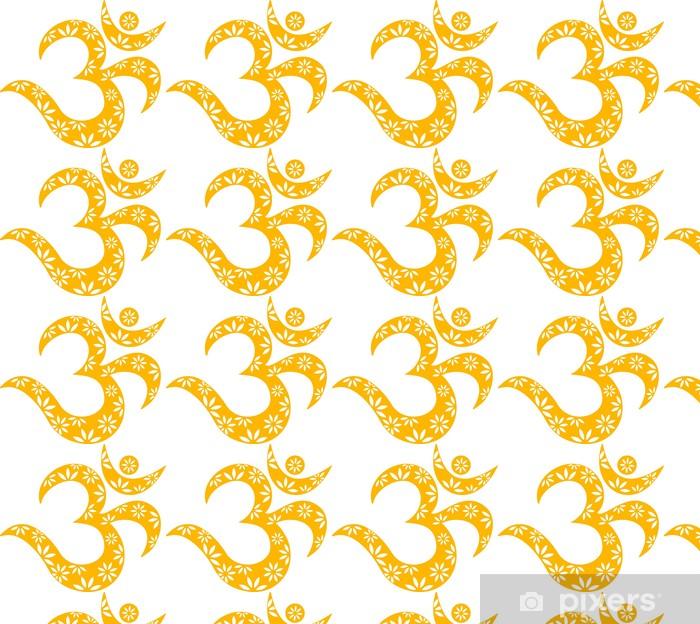 Vinylová tapeta na míru OM Mantra Symbol, Muster, Aum, Buddhismus - Nálepka na stěny