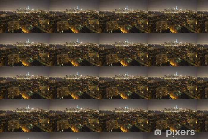 Papier peint vinyle sur mesure New York by night - nouvel WTC en bleu - Villes américaines