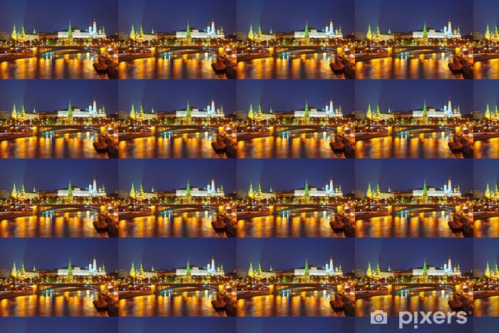 Vinyltapete nach Maß Moskauer Kreml und Moskwa in der Nacht. Russland - Moskau