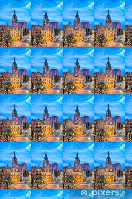 Carta da parati in vinile su misura Altes Rathaus und Marktkirche di Hannover, Deutschland - Europa