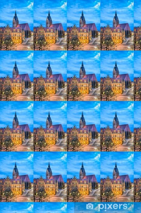 Tapeta na wymiar winylowa Altes Rathaus und Marktkirche Hannover, Deutschland - Europa