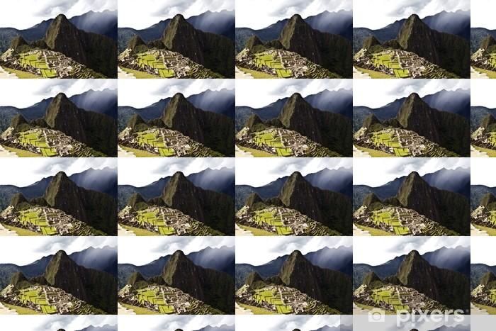 Tapeta na wymiar winylowa Ciemne chmury zbierają nad zaginionego miasta Inków Machu Picchu w Peru - Tematy