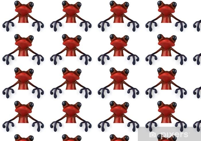 Tapeta na wymiar winylowa Czerwona żaba - Znaki i symbole