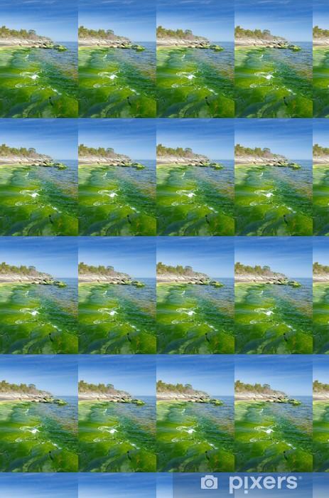 Papier peint vinyle sur mesure Paysage vertical de la côte verte - Saisons