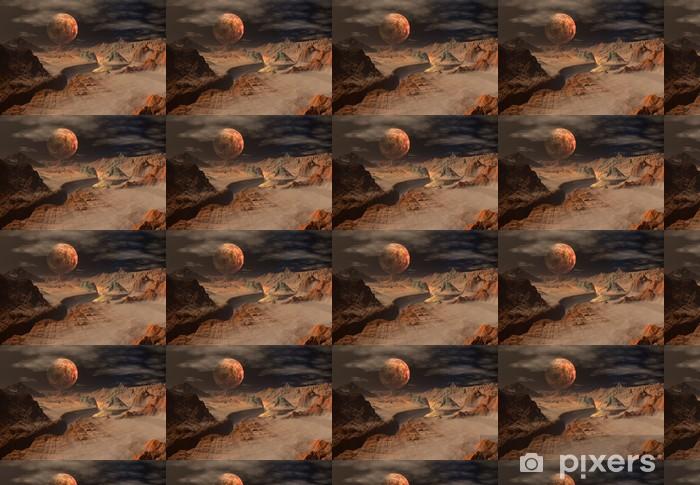 Tapeta na wymiar winylowa Alien Planet - grafika komputerowa - Przestrzeń kosmiczna