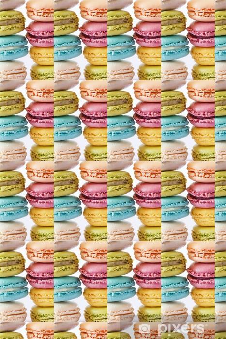 Papier peint vinyle sur mesure Macarons colorés - Thèmes
