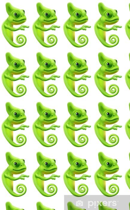 Vinylová tapeta na míru Cartoon chameleon polohovací - Nálepka na stěny