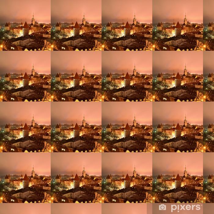 Tapeta na wymiar winylowa Tallinn miasto. Estonia. Zimowy widok panoram - Europa