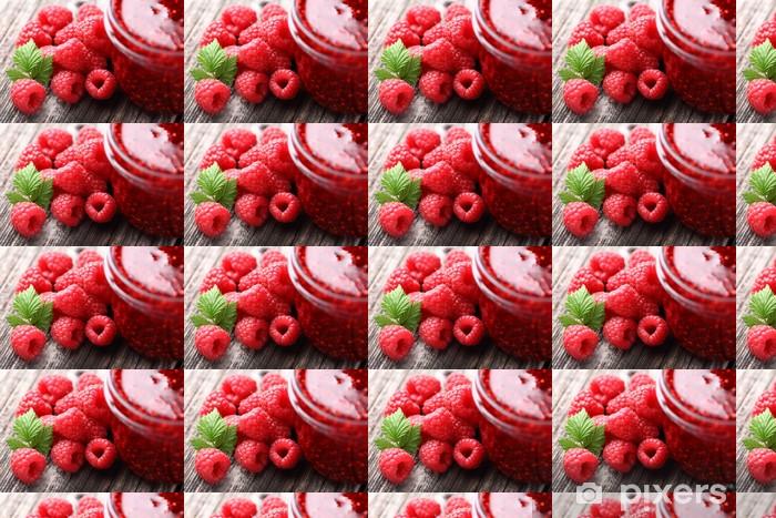 Papier peint vinyle sur mesure Confiture de framboises - Fruits