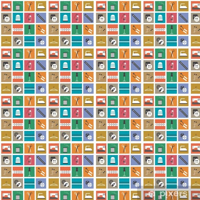 Papel pintado estándar a medida Iconos de costura retro - Entretenimiento