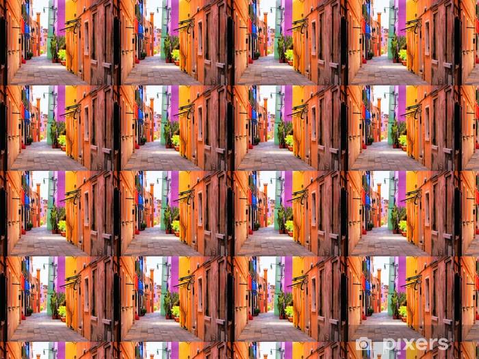 Tapeta na wymiar winylowa Kolorowa ulica we Włoszech -