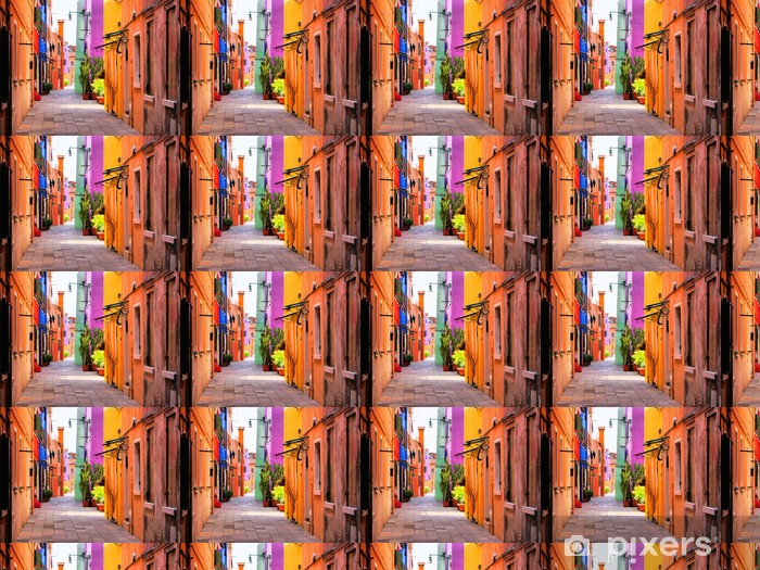 Colorful street in Italy Vinyl custom-made wallpaper -