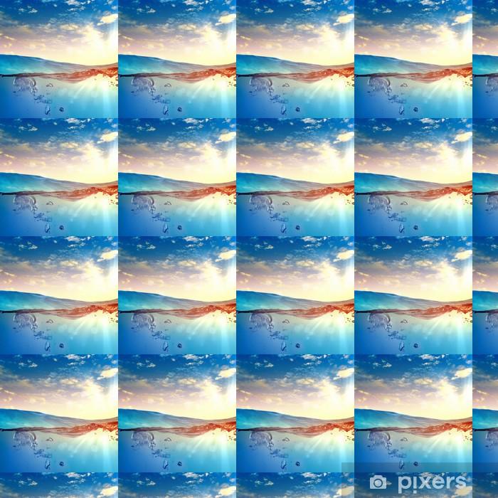 Papier peint vinyle sur mesure Vague de mer avec des bulles - Merveilles naturelles
